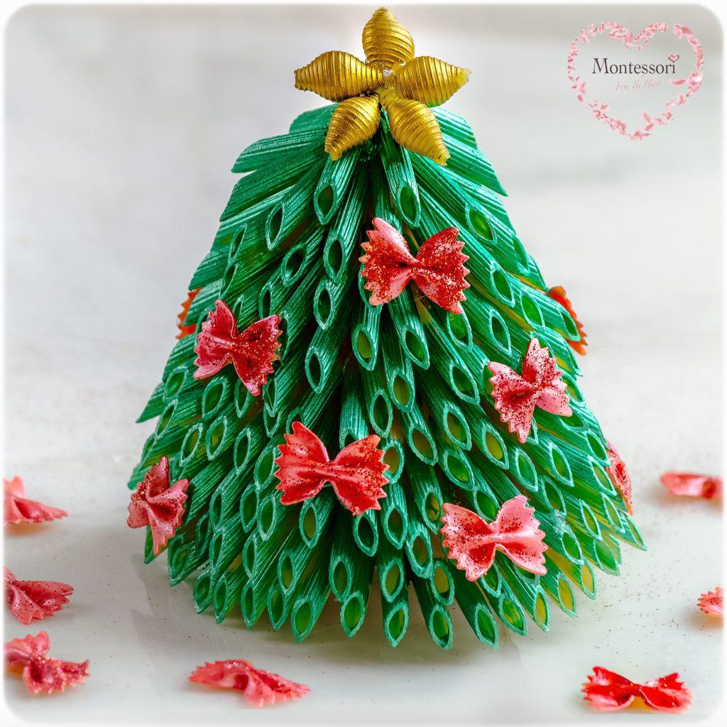 Christmas Tree Pasta Craft Montessori From The Heart